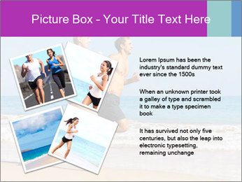 Couple Jogging On Beach PowerPoint Templates - Slide 23