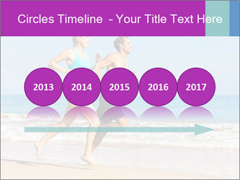 Couple Jogging On Beach PowerPoint Templates - Slide 29