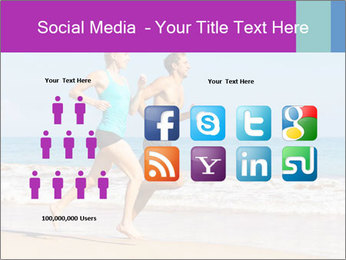 Couple Jogging On Beach PowerPoint Templates - Slide 5