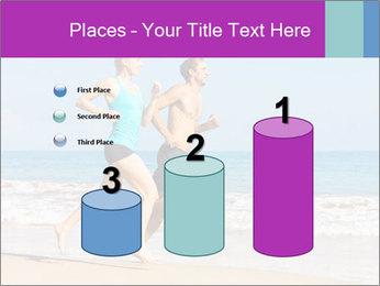 Couple Jogging On Beach PowerPoint Templates - Slide 65