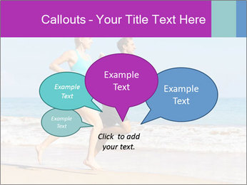 Couple Jogging On Beach PowerPoint Templates - Slide 73