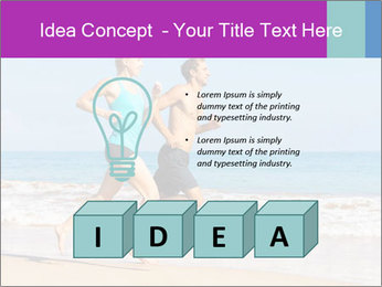 Couple Jogging On Beach PowerPoint Templates - Slide 80