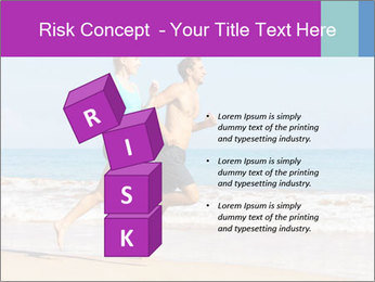 Couple Jogging On Beach PowerPoint Templates - Slide 81