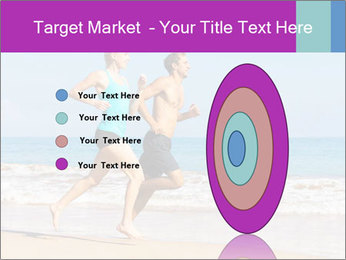Couple Jogging On Beach PowerPoint Templates - Slide 84
