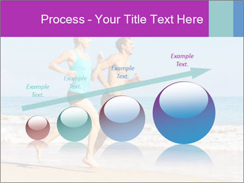 Couple Jogging On Beach PowerPoint Templates - Slide 87