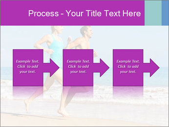 Couple Jogging On Beach PowerPoint Templates - Slide 88