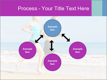 Couple Jogging On Beach PowerPoint Templates - Slide 91