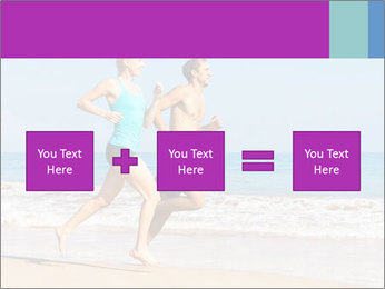 Couple Jogging On Beach PowerPoint Templates - Slide 95