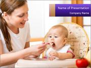 Baby Eating Time PowerPoint Templates