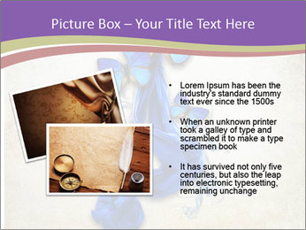 Blue Butterfly Drawing PowerPoint Template - Slide 20