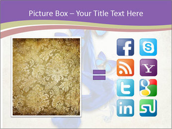 Blue Butterfly Drawing PowerPoint Template - Slide 21