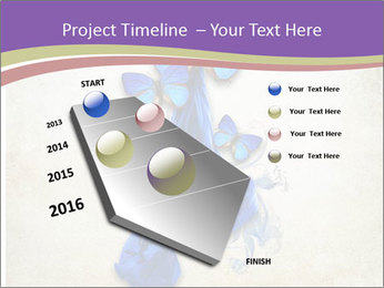 Blue Butterfly Drawing PowerPoint Template - Slide 26
