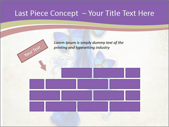 Blue Butterfly Drawing PowerPoint Template - Slide 46
