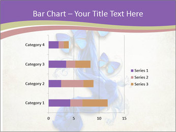 Blue Butterfly Drawing PowerPoint Template - Slide 52