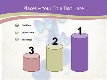 Blue Butterfly Drawing PowerPoint Templates - Slide 65