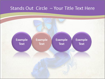Blue Butterfly Drawing PowerPoint Templates - Slide 76