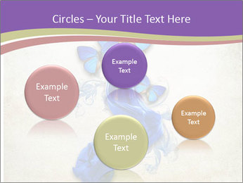 Blue Butterfly Drawing PowerPoint Templates - Slide 77