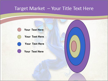 Blue Butterfly Drawing PowerPoint Template - Slide 84