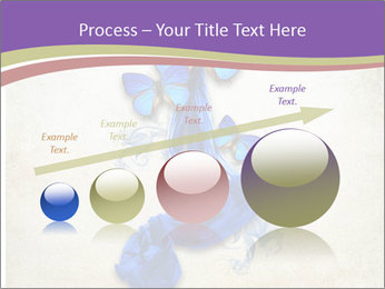 Blue Butterfly Drawing PowerPoint Template - Slide 87