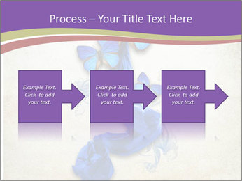 Blue Butterfly Drawing PowerPoint Templates - Slide 88