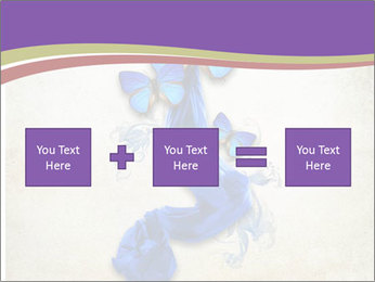 Blue Butterfly Drawing PowerPoint Templates - Slide 95