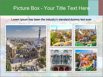 Spanish Gaudi Building PowerPoint Template - Slide 19
