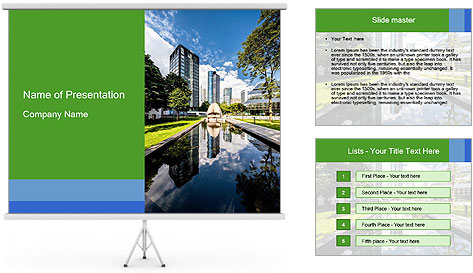 Business Downtown PowerPoint Template