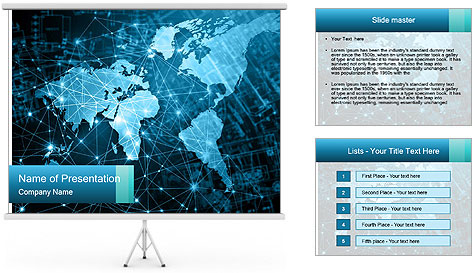Global Internet Connection PowerPoint Template