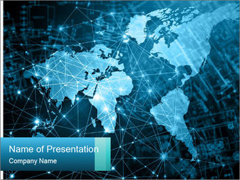 Global Internet Connection PowerPoint Templates - Slide 1