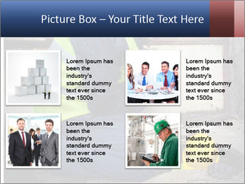 Caucasian Workers PowerPoint Template - Slide 14