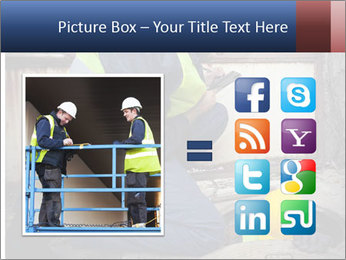 Caucasian Workers PowerPoint Template - Slide 21