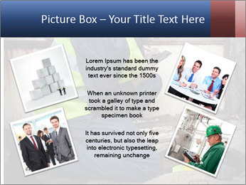 Caucasian Workers PowerPoint Template - Slide 24