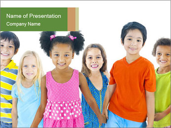 Primary Schoolchildren PowerPoint Template