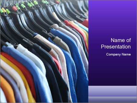 Clothes Secondhand PowerPoint Templates