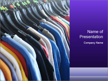 Clothes Secondhand PowerPoint Template - Slide 1