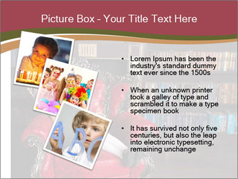 Girl Reading In Red Armchair PowerPoint Templates - Slide 17