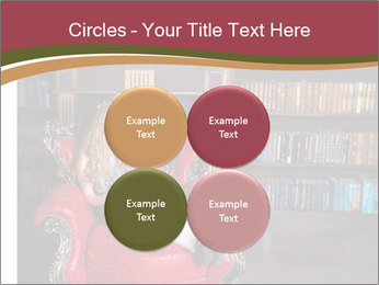 Girl Reading In Red Armchair PowerPoint Templates - Slide 38