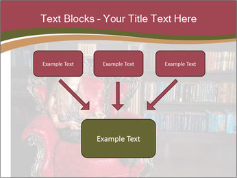 Girl Reading In Red Armchair PowerPoint Templates - Slide 70