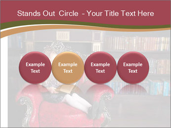 Girl Reading In Red Armchair PowerPoint Templates - Slide 76