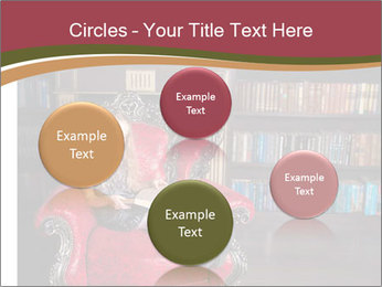 Girl Reading In Red Armchair PowerPoint Templates - Slide 77