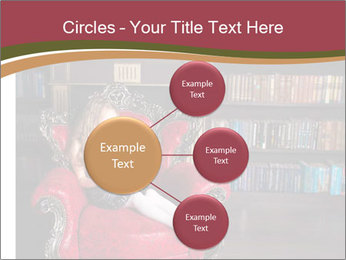 Girl Reading In Red Armchair PowerPoint Templates - Slide 79