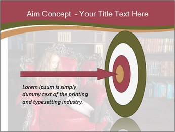 Girl Reading In Red Armchair PowerPoint Templates - Slide 83