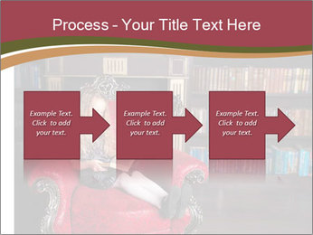 Girl Reading In Red Armchair PowerPoint Templates - Slide 88