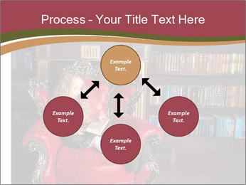 Girl Reading In Red Armchair PowerPoint Templates - Slide 91