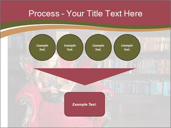 Girl Reading In Red Armchair PowerPoint Templates - Slide 93