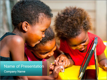 Afro American Kids PowerPoint Template - Slide 1