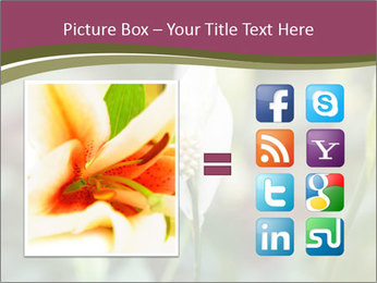 White Lily PowerPoint Template - Slide 21