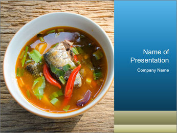 Thai Soup PowerPoint Template - Slide 1