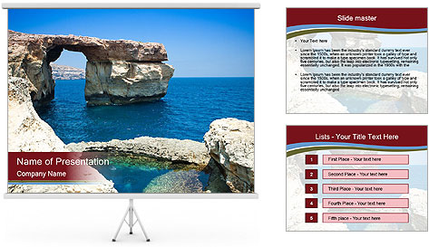 Sea And Rocks PowerPoint Template