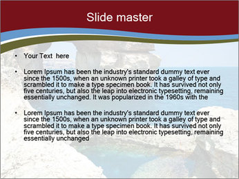 Sea And Rocks PowerPoint Template - Slide 2